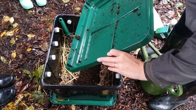 El compost se puede utilizar como fertilizante + tierra para macetas (1/3 abono, 0.1 / 3 del suelo, 1/3 vermiculita). El drenaje de líquido puede ser utilizado como fertilizante para plantas (1 parte líquida a 10 partes de agua).