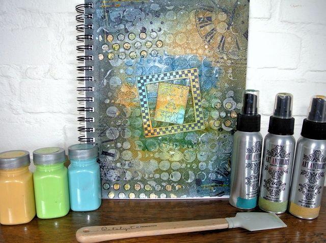 Cómo crear una página de Art Journal Con Sellos VLV