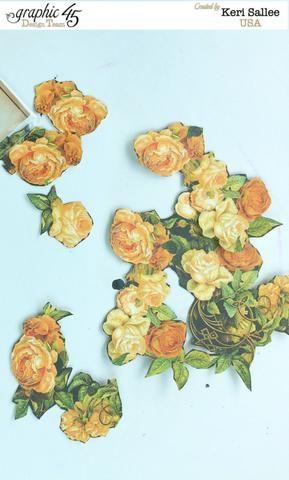 Mientras que la tinta se está secando, utilice sus tijeras o un cuchillo para quisquilloso flores cortadas de los periódicos Un misterioso cuento