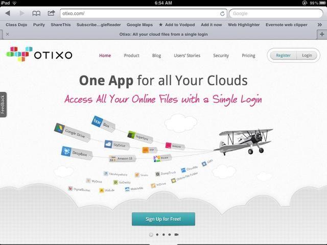 Crear una cuenta con Otixo. Este es un servicio basado en la web que unirá todas sus cuentas de almacenamiento en la nube como Dropbox y Drive. Conecta tu cuenta de Dropbox para Otixo.