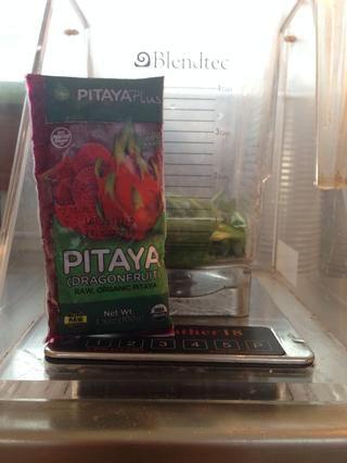 Ordeno estos paquetes increíbles de congelados Pitaya (fruta del dragón) de una empresa llamada Pitayaplus +. Pura fruta !!