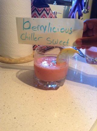 Y está el enfriador berrylicious dulce batido! PD Un paso más ........ DISFRUTAR !!!