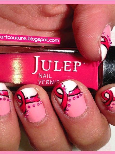 Cómo crear Breast Cancer Awareness Nails
