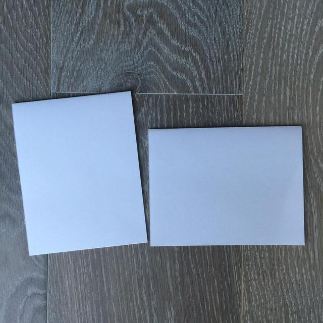 Haga sus bases de tarjetas cortando una hoja 4 1/4