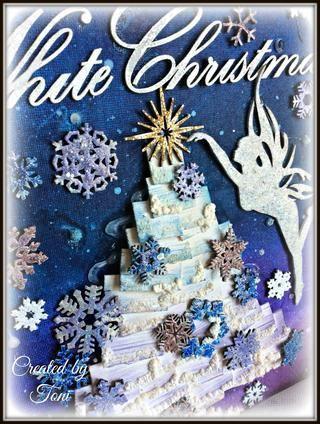 Para el título usé Winter Wonderland polvo que realza. Ello's opaque with sparkles.