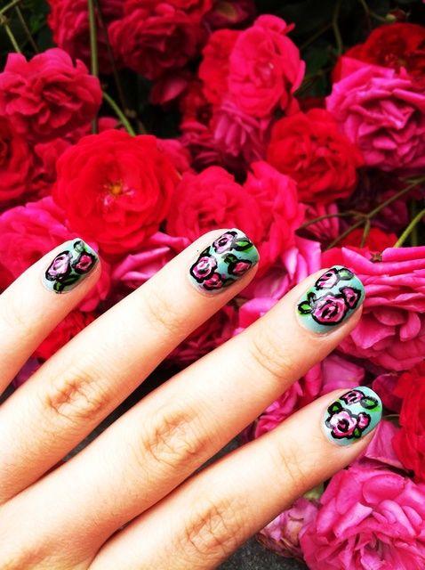 Cómo crear Floral Nails Imprimir