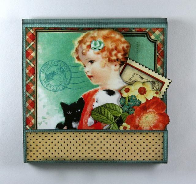 Añadir imagen Muchacha de la vendimia y la parte superior con las flores de corte quisquillosos.
