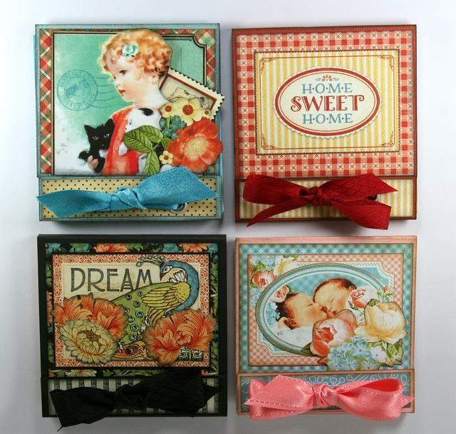 Hacer estos pequeños cuadernos de estilo caja de cerillas para cada ocasión para mantener en su bolso y para regalar. Un gran pequeño regalo o embutidora de la media. También un acto al azar precioso regalo de la bondad.