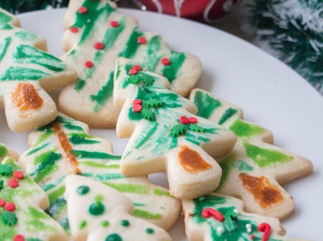 Cómo crear pintado Receta Árbol de Navidad Galletas