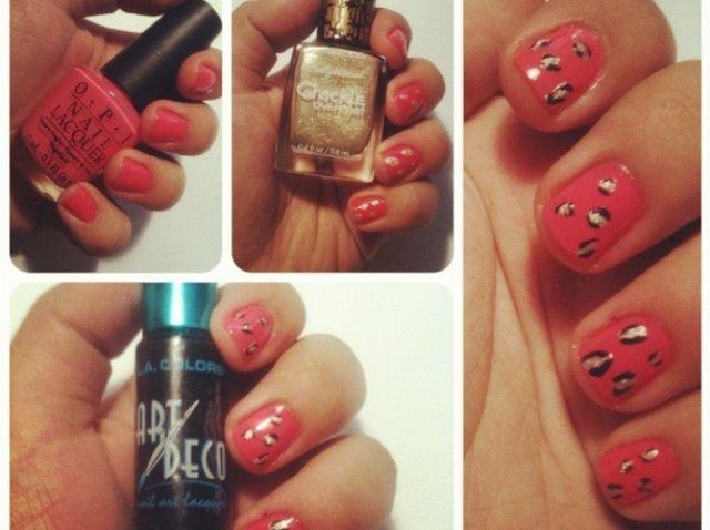Cómo crear Pink Cheetah Nails