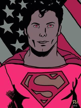 aquí's a Superman illustration I created with the same process.