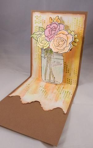 Adherirse al panel pintado a la tarjeta.