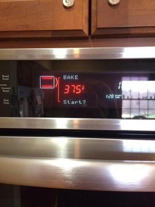 Precaliente el horno a 375 grados