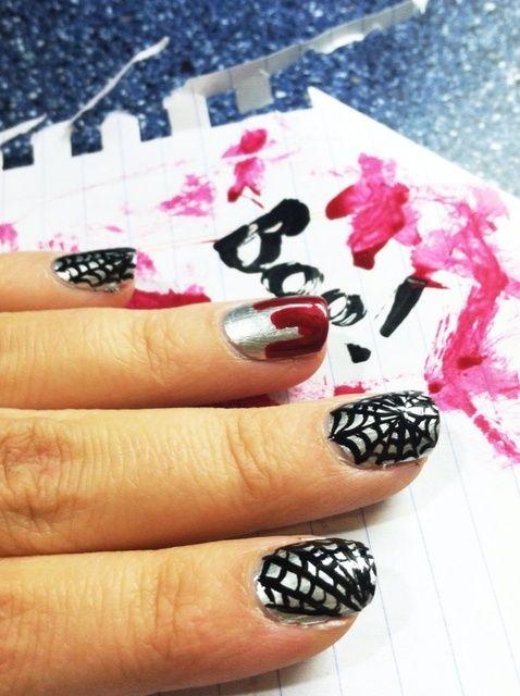 Cómo crear Nails fantasmagóricos de Halloween