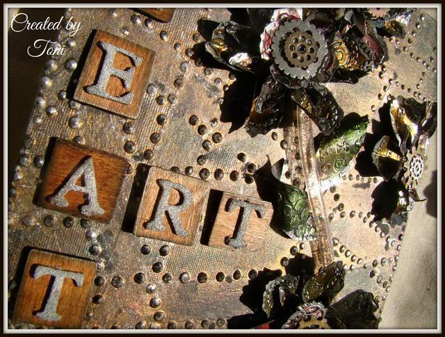 Espero que se inspiraron para ser creativo en la actualidad. Ello's fun to use the unexpected in your art. Have a great day !