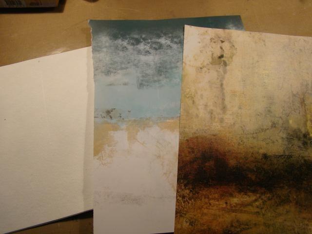 Elegí estos artistas documentos a utilizar para los fondos, que pensaban que tenían gran textura y sería perfecto para mi ventana primavera / otoño. Somerset mag siempre tiene grandes papeles para arrancar y utilizar.