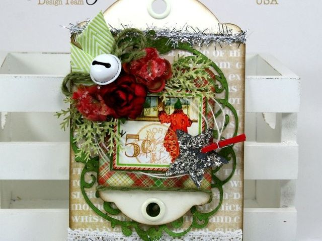 Como crear'Twas the Night Before Christmas Tag With G45