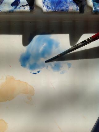 Recuerde que un lavado es una versión edulcorada de la pintura. La capa en la capa de pintura crea los valores!