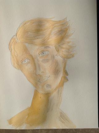 El uso de los colores combinados otra vez, establecer otra capa sobre las zonas de sombra. Usted comenzará a notar un cambio en los valores entre las secciones de la cara.