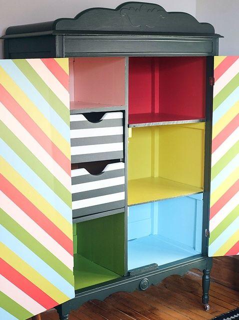 Cómo personalizar Muebles de Pintura Fun Stripes