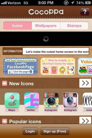 Mira a través de los nuevos iconos o los iconos populares y encontrar el que más te guste.