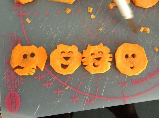 Cómo cortar zanahorias lindas para Bento Receta