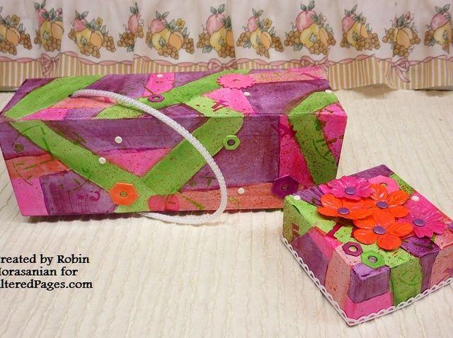 Cómo decorar una caja de cartón marrón