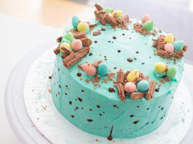 Cómo decorar un chocolate manchado Pascua Pastel huevo Receta