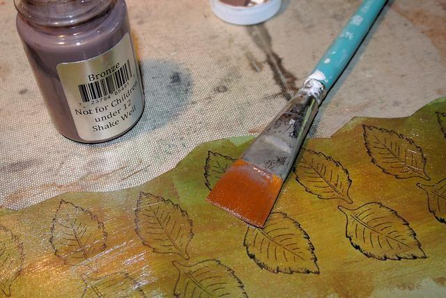 Pintar con bronce.