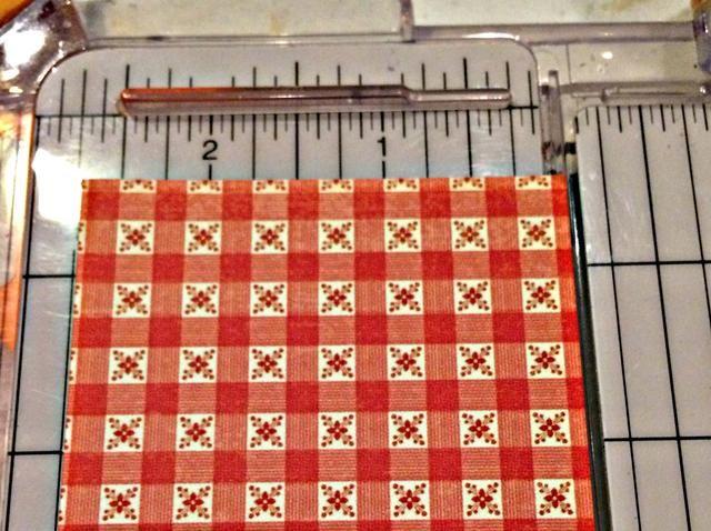 Corte un 2 3/4 x 12 pedazo de coordinación Gráfico 45 cartulina.