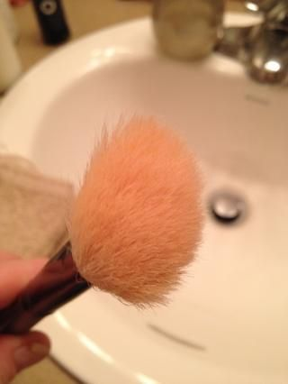 Dejar's review. Dirty brush = old pigment, oil, bacteria, dead skin cells and dirt.