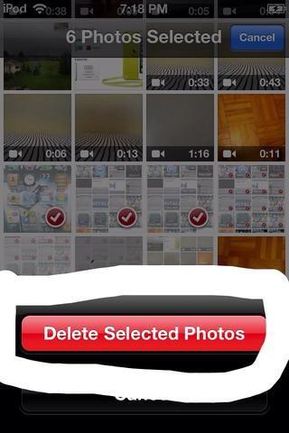 Luego haga clic en eliminar las fotos seleccionadas clic sobre la imagen de arriba para ver lo que quiero decir
