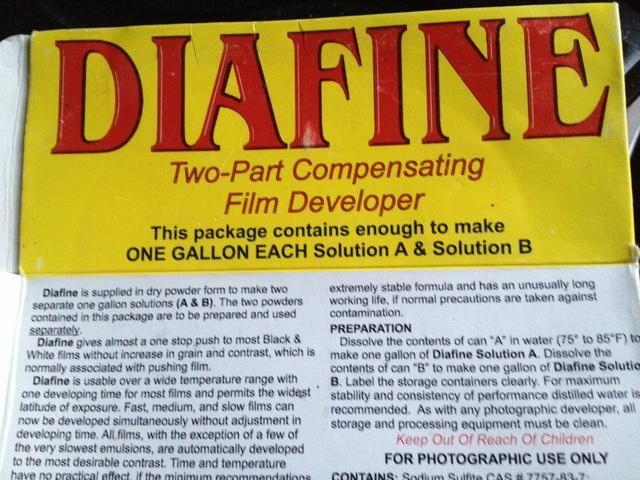 Cuadro de concentrado de polvo para Diafine