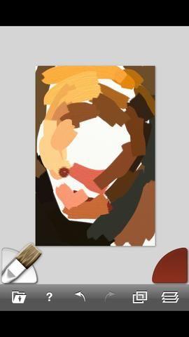 Si toca el icono de rastreo usted será capaz de cambiar la opacidad a ver más claramente lo que've painted. (Also each stroke gives you a