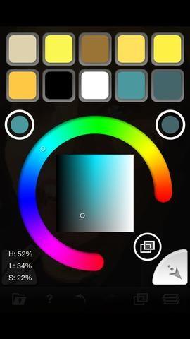 Toque cualquier color y luego el botón de retorno en la esquina inferior derecha.