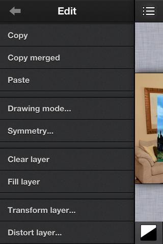 Asegúrese de que está seleccionada la (montaña) de capa en capas. A continuación, vaya al menú Edición y seleccione