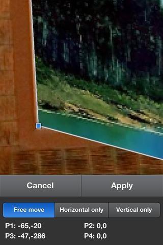 Una pizca de hacer zoom lo más cerca que pueda para que pueda alinear las esquinas con el marco de imagen.