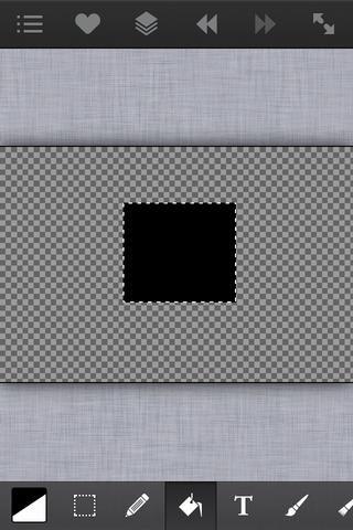 Aquí he utilizado la herramienta de selección y llené en un cuadrado negro. Ahora nosotros're going to distort this square.