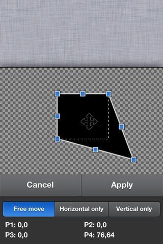 Estos pequeños cuadrados azules se ven alrededor de la imagen. Arrastrando estos cuadros azules se puede alterar la forma de la imagen.