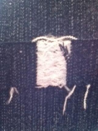 Esto es lo que empieza a ser similar. Usted puede ver cómo me sacó algunos de los hilos y luego sólo sacarlos de modo que sólo las cuerdas horizontales están ahí.