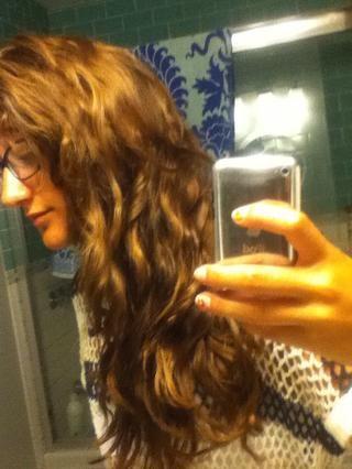 Así es como mi pelo resultó. Sé que puedes't tell but my hair is normally darker.