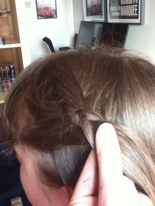 A medida que trenza, añadir en las secciones adicionales de cabello como lo hace para una trenza francesa. Asegúrese de poner las piezas BAJO uno al otro!