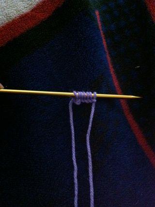 el número deseado de puntos de sutura del elenco-en. Yo fundido en 7 puntos de sutura.
