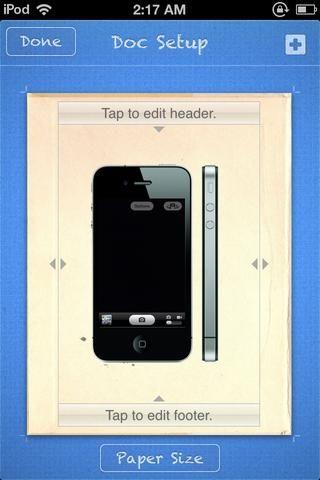 Volver a DOCUMENTOS DE CONFIGURACIÓN. Ahora redimensionar la pantalla para que quepa en la pantalla simulada. Toque HECHO. Volver a la pantalla principal.
