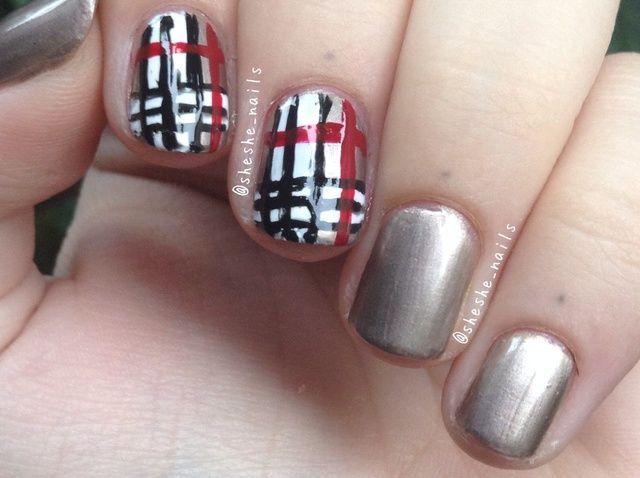 Cómo hacer Nails Burberry!