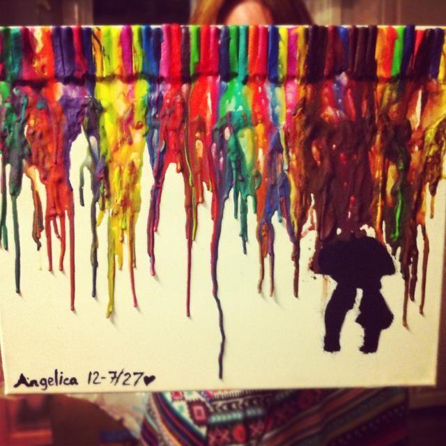 Esta fue mi primera pintura que hice ayer. ¡Se creativo!