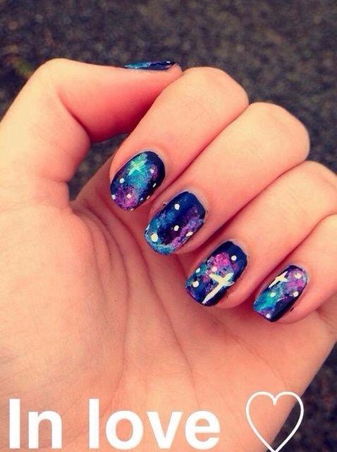 Cómo hacer Galaxy Nails