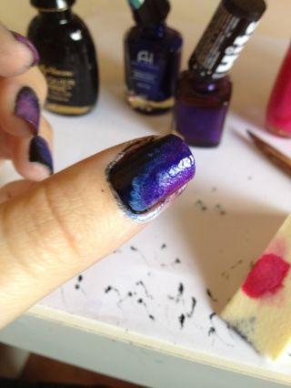 A continuación, agregue la púrpura