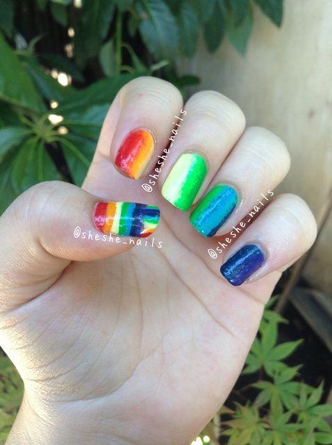 Cómo hacer Rainbow Nails