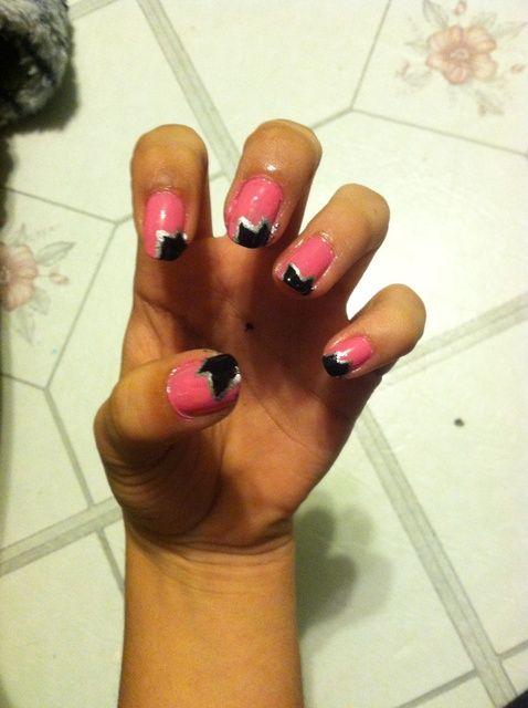 Cómo hacer zigzag Nails
